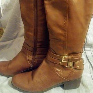Liz Claiborne Block-Heeled Calf Boots